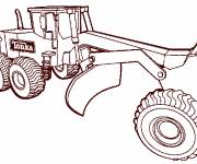 Coloring pages Tonka construction machinery