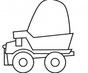 Coloring pages Tonka simple