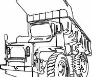 Coloring pages Tonka truck
