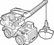 Coloring pages Tonka vector
