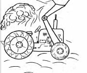 Coloring pages A simple backhoe loader