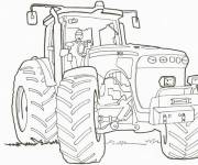 Free coloring and drawings A tractor online Coloring page