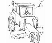 Free coloring and drawings Agricultural equipment to download Coloring page