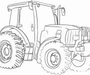 Coloring pages Agricultural vehicle tractor