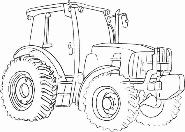 Free coloring and drawings Agricultural vehicle tractor Coloring page