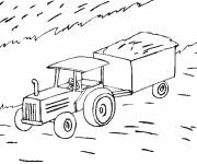 Coloring pages Agriculture tractor