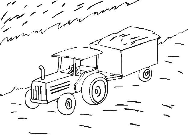 Free coloring and drawings Agriculture tractor Coloring page