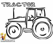 Coloring pages Artistic tractor in vector
