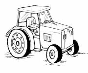 Coloring pages Black and white tractor