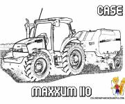 Coloring pages Case Maxxum tractor
