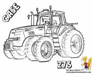 Coloring pages Case tractor