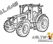 Free coloring and drawings Claas Celtis tractor Coloring page