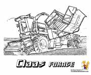 Coloring pages Claas drilling Harvester easy