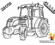 Coloring pages Claas Nectis tractor