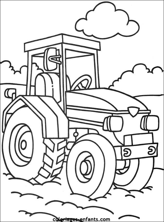 Free coloring and drawings Color tractor Coloring page