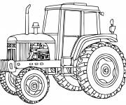 Free coloring and drawings Cutting tractor Coloring page