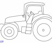 Coloring pages Easily drawn tractor