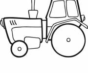Coloring pages Easy tractor online