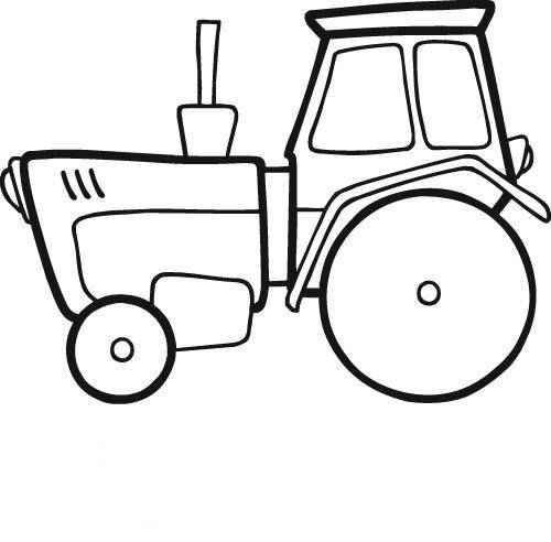 Free coloring and drawings Easy tractor online Coloring page