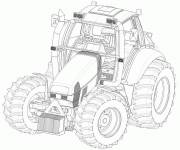 Free coloring and drawings Fendt tractor Coloring page