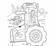 Coloring pages Flash Mcqueen tractor