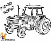 Coloring pages Ford tractor
