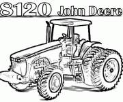 Coloring pages John Deere tractor