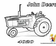 Coloring pages John Deere tractor for adults