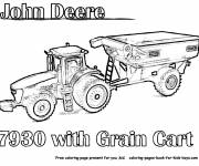 Coloring pages John Deere tractor on computer