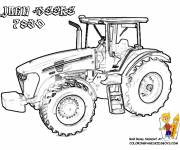 Coloring pages John Deere tractor to download