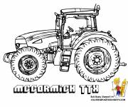 Coloring pages Maccormick tractor