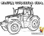 Coloring pages Massey Ferguson tractor