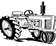 Coloring pages Maternal tractor for coloring