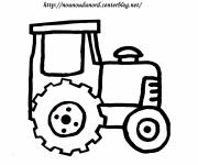 Coloring pages Miniature Tractor