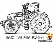 Coloring pages New Holland tractor