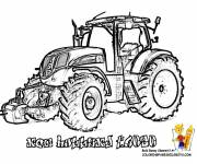 Coloring pages New Holland tractor in vector