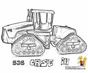 Coloring pages Realistic drilling harvester