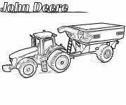 Coloring pages Realistic John Deere tractor