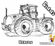 Coloring pages Realistic tractor
