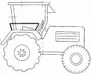 Coloring pages Simplified tractor