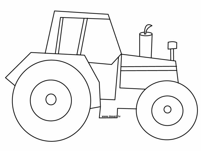Free coloring and drawings Single tractor Coloring page