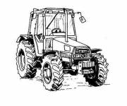 Free coloring and drawings Stylized tractor Coloring page