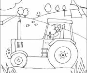 Free coloring and drawings The farmer and his tractor Coloring page