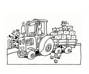 Coloring pages Tractor and Agriculture