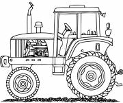 Coloring pages Tractor for agricultural work