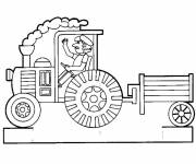 Coloring pages Vector trailer