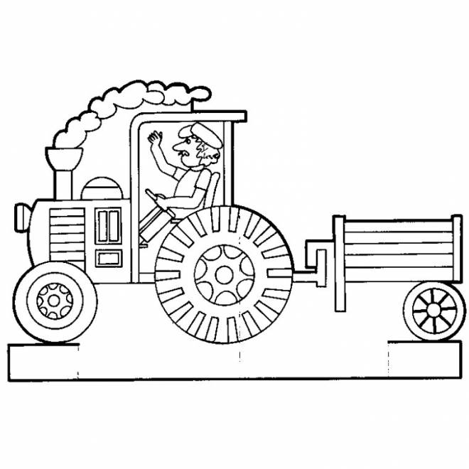 Free coloring and drawings Vector trailer Coloring page