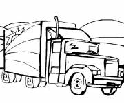 Coloring pages American Trailer Truck