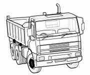 Coloring pages Dump Truck Vehicle