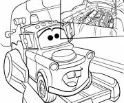 Coloring pages Flash Mcqueen Trailer